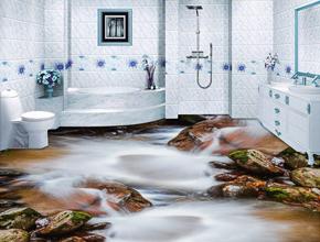 Sàn 3D phòng tắm